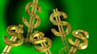 Gold Dollar Signs on a Field of Green
