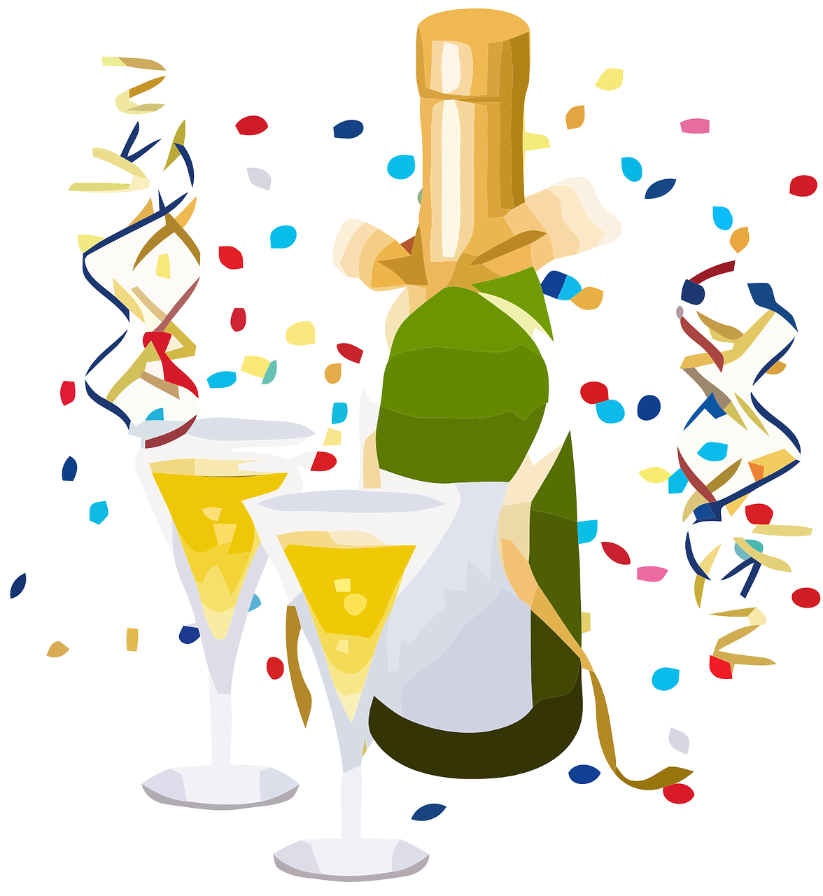 Image of celebrating with champagne